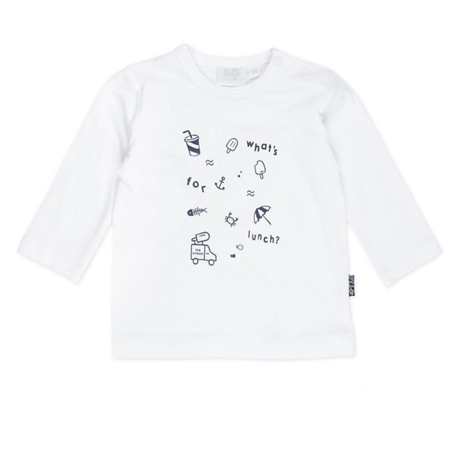 Feetje Pitkähihainen paita mitä lounaaksi Kapteeni viileä valkoinen
