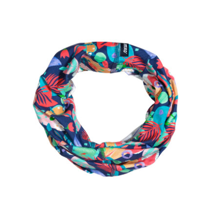 maximo Girl s Foulard multifonctionnel feuilles rouge marine