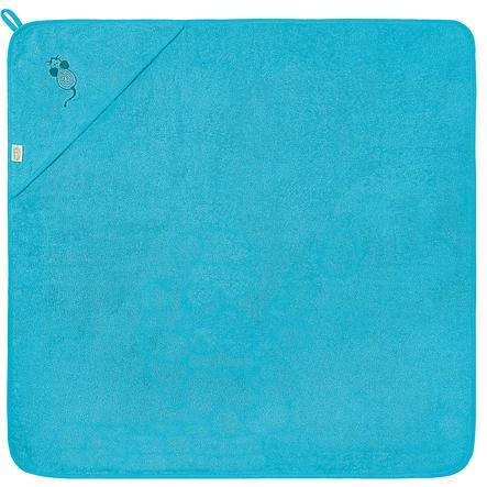 odenwälder Serviette mouse de bain à capuche 100 x 100 cm turquoise