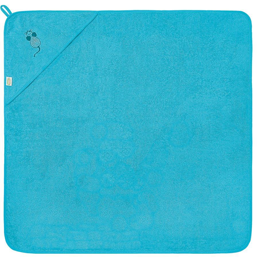 odenwälder Asciugamano da bagno con cappuccio mouse 100 x 100 cm turquoise