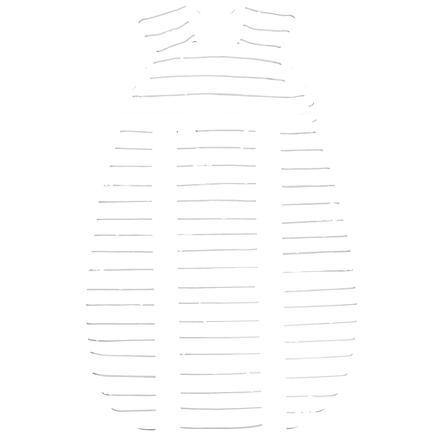 odenwälder Spací pytel Jersey Prima klimatické safari světle šedá 60 - 130 cm