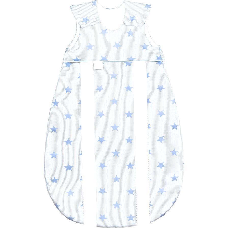odenwälder Schlafsack Jersey Prima Klima stars cool blue  60 - 130 cm