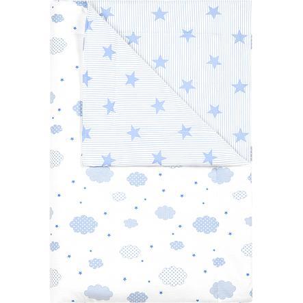 odenwälder Cuddly tæppe overskyet cool blå 70x100cm