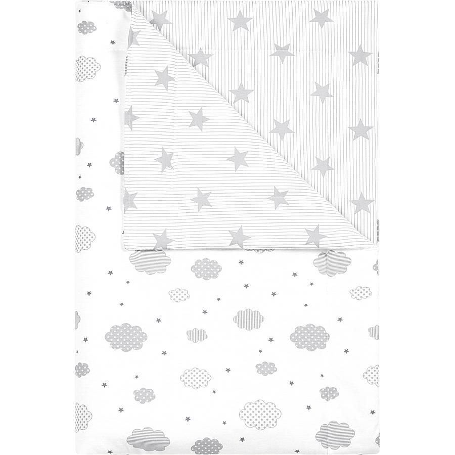 odenwälder Couverture à câliner cloudy light grey 70x100cm