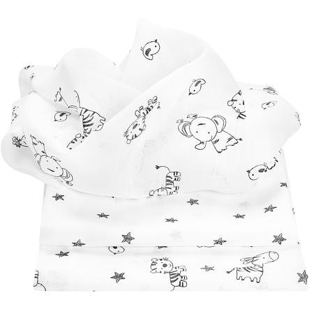 odenwälder pañales de algodón animal farm paquete de tres antracita 80 x 80 cm