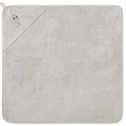 odenwälder Afsluitbare badhanddoek mouse 100 x 100 cm grey