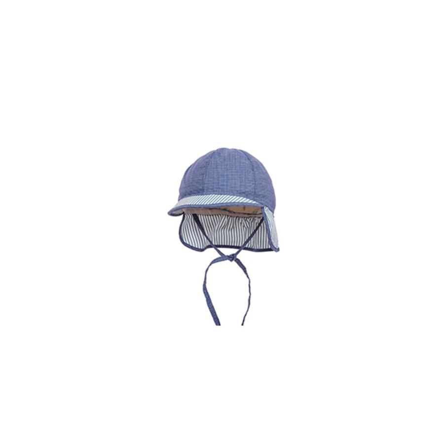 maximo Boys Schildmütze Streifen blaumeliert-aqua-weiss