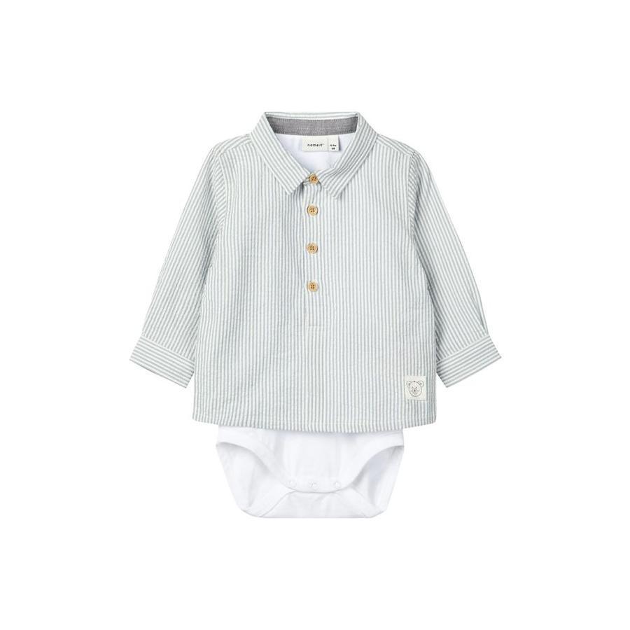 name it Boys Shirt Body Delix Ashley Blue
