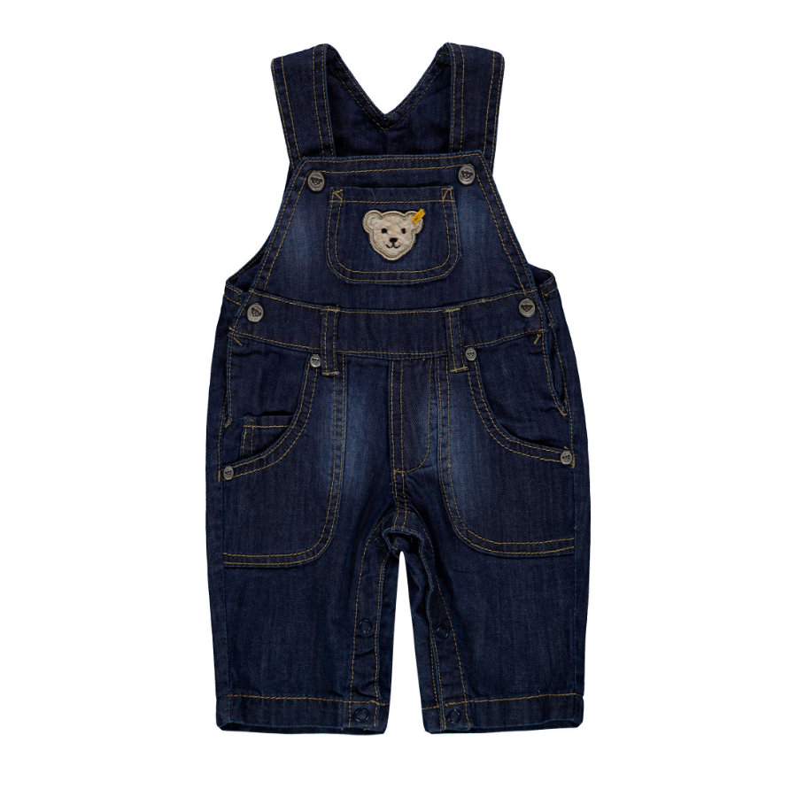Steiff Boys Latzhose Jeans, blau