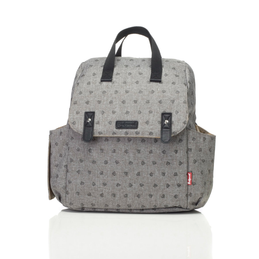 Robyn Convertible Backpack Origami Heart Grey