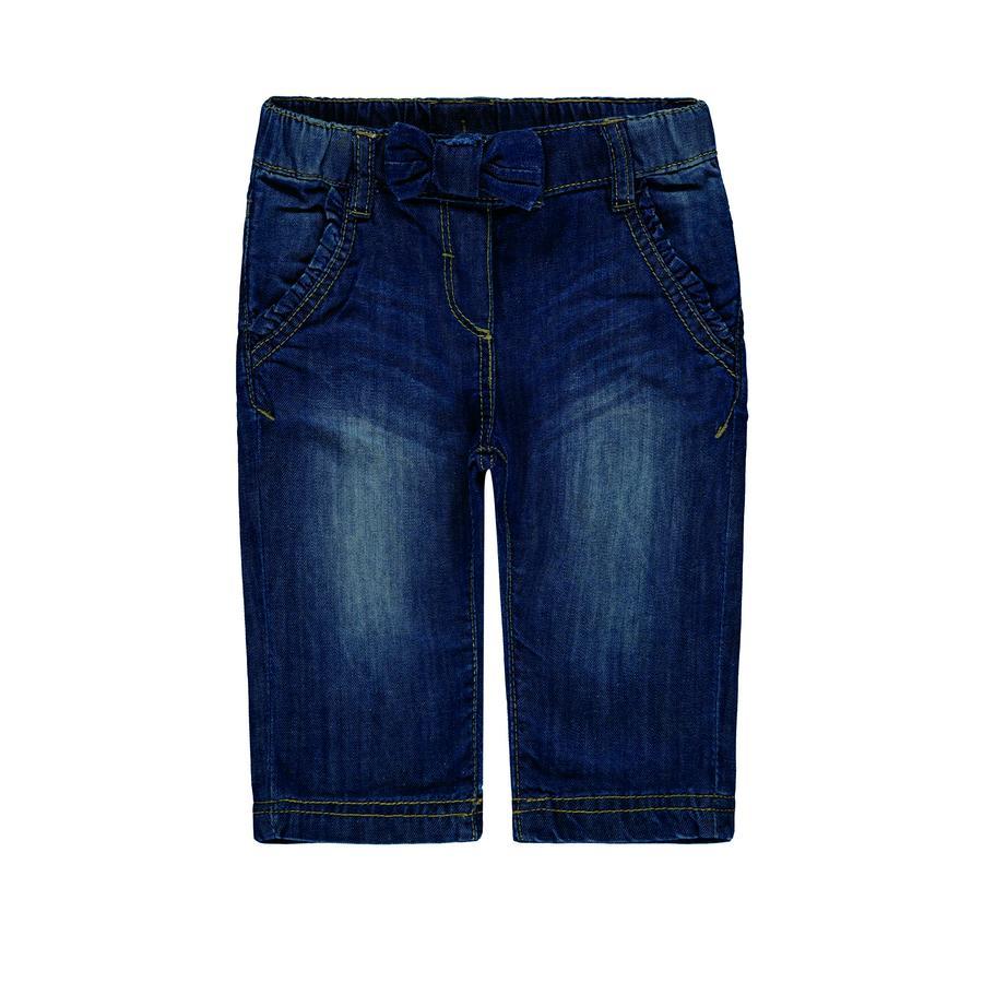 Steiff Girl s Pantalon Jeans, denim bleu
