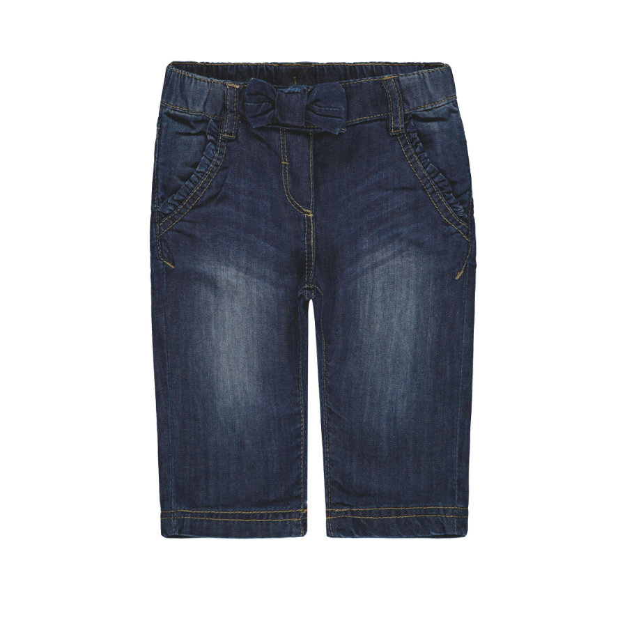 Steiff Girls Hose Jeans, blue denim