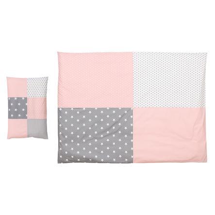Ullenboom Kinder Bettwäsche Set Rosa Grau 135 X 100 Cm 40 X 60 Cm