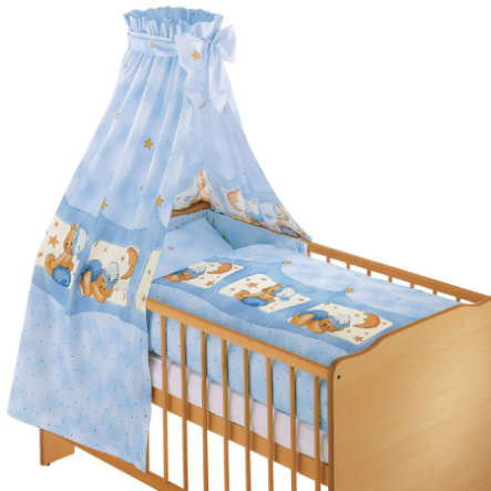ZÖLLNER 3 Piece Bed Set Cuddle Bear BLUE (1581-3)