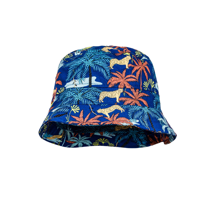 maximo Boys Hat Palms Bluee-terracotta