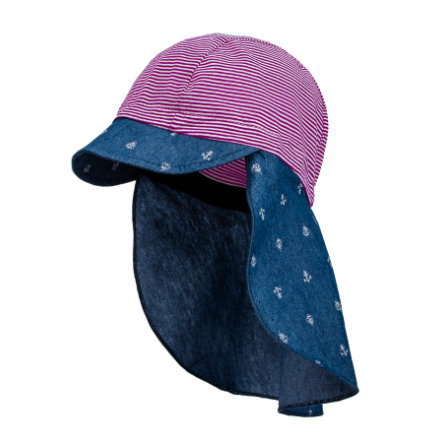 maximo Girl s scudo cappello berretto barca ancora denim blu-rosole rosa sole