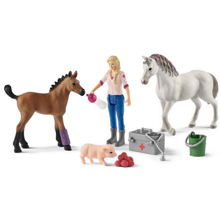 Schleich Horse Club - Artsbezoek bij Merrie en Paard 42486