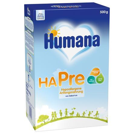 Humana Anfangsnahrung HA Pre für Babys mit erhöhtem Allergierisiko 500 g ab der Geburt