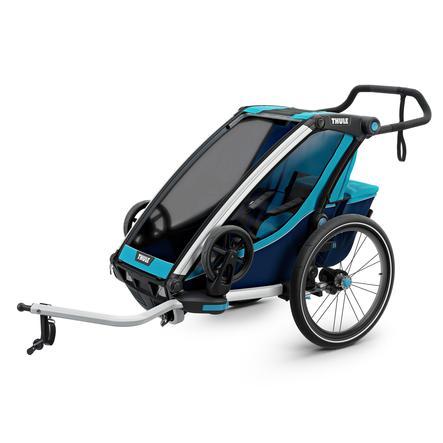 THULE Remorque de vélo enfant Chariot Cross 1 Poseidon bleu