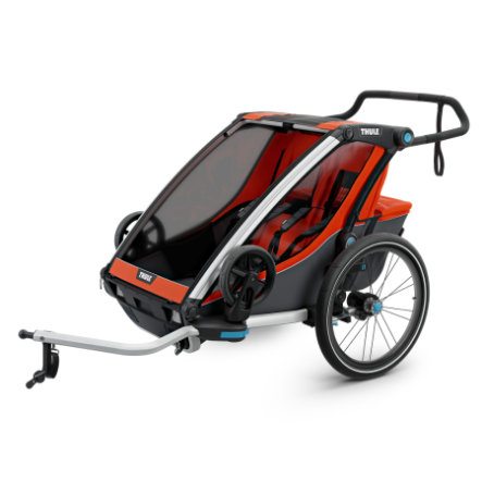 Thule Rimorchio per bicicletta Chariot Cross 2 Roarange - Dark Shadow