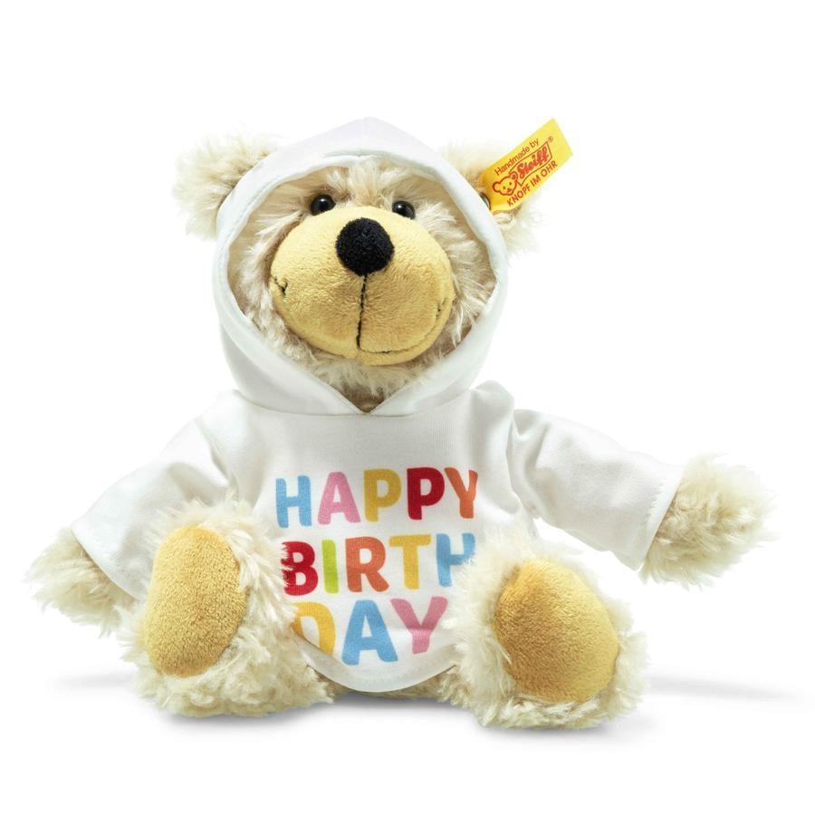 Steiff Charly Happy Birthday Teddybjørn med pullover, 23 cm