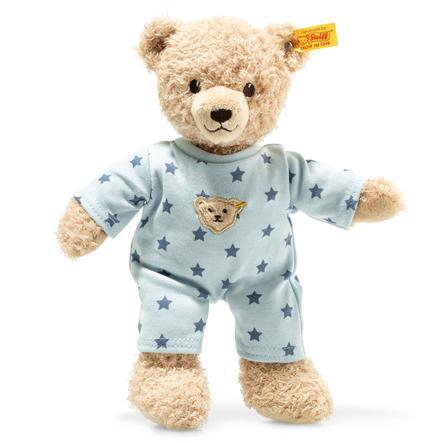 Steiff Teddy and Me Teddybear dreng baby med nattøj, 25cm