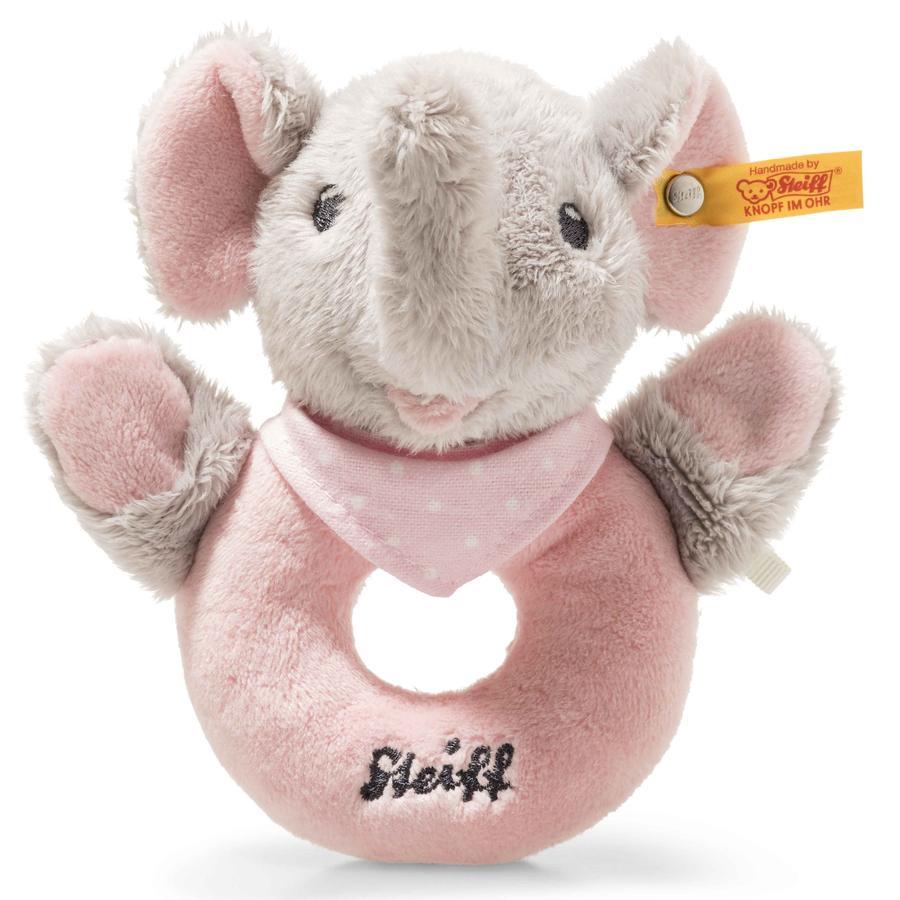 Steiff  Trampili Elefant Anello di presa con sonaglio, 13 cm