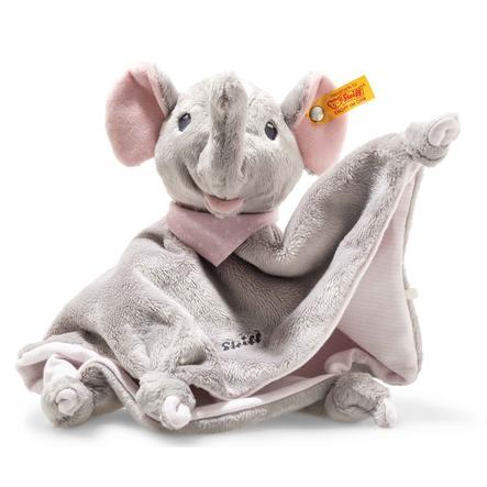 Steiff Trampili Elefant Schmusetuch, 28 cm rosa