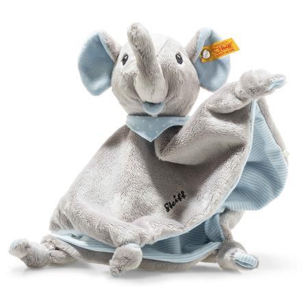 Steiff Trampili Elefant Schmusetuch, 28 cm blau
