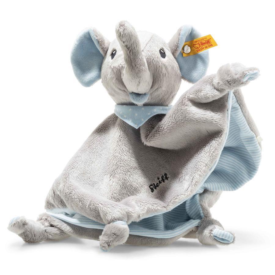 Steiff Trampili Doudou Elefante , 28 cm azul