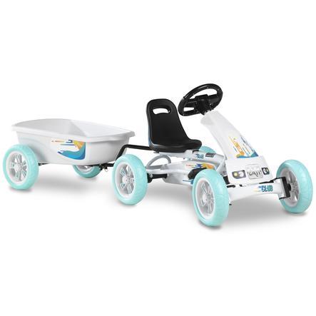 EXIT Pedal Go-Kart Foxy Club s návěsem - bílé