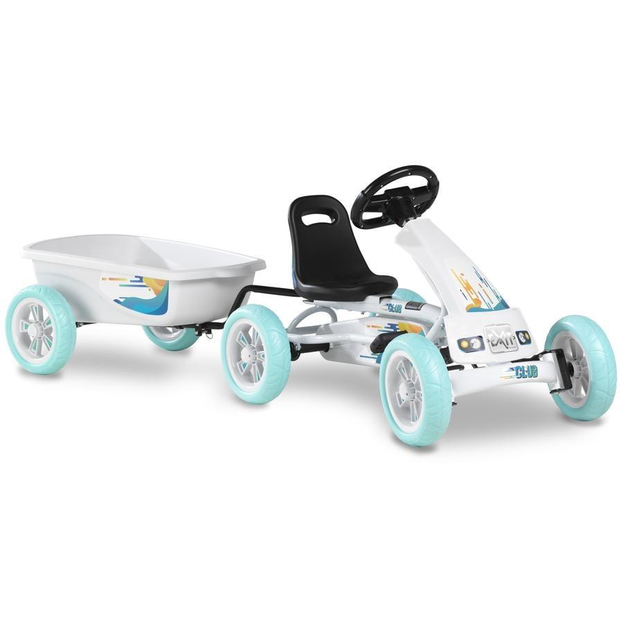 EXIT Pedal Go-Kart Foxy Club mit Anhänger - weiß