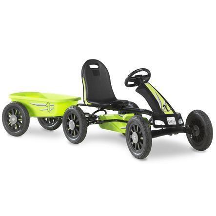 EXIT Pedal Go-Kart Spider ja peräkärry - vihreä