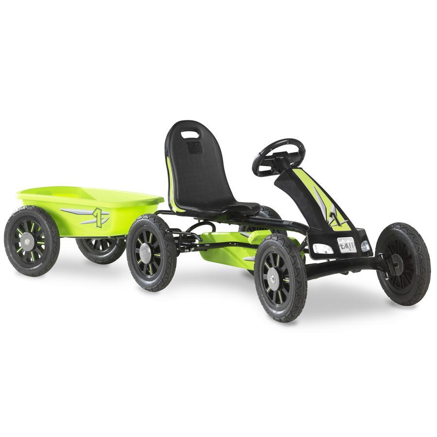 EXIT Pedal Go-Kart Spider mit Anhänger - grün