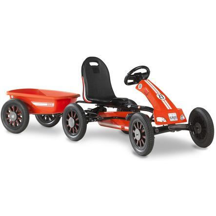 EXIT Go-Kart a pedali Spider Expedition con rimorchio, rosso