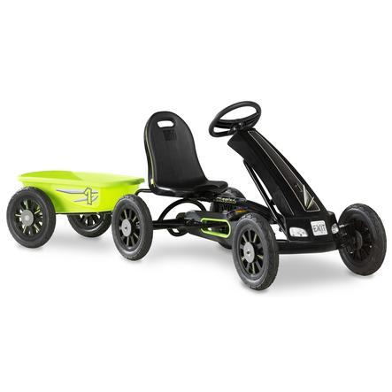 EXIT Pedal Go-Kart Cheetah z przyczepą - zielony / czarny