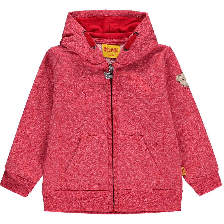 Steiff Girls Sweatjacke, rot
