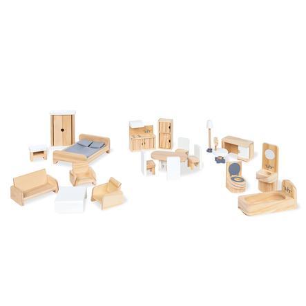 Pinolino Mobili per casa delle bambole - Set 20 pezzi