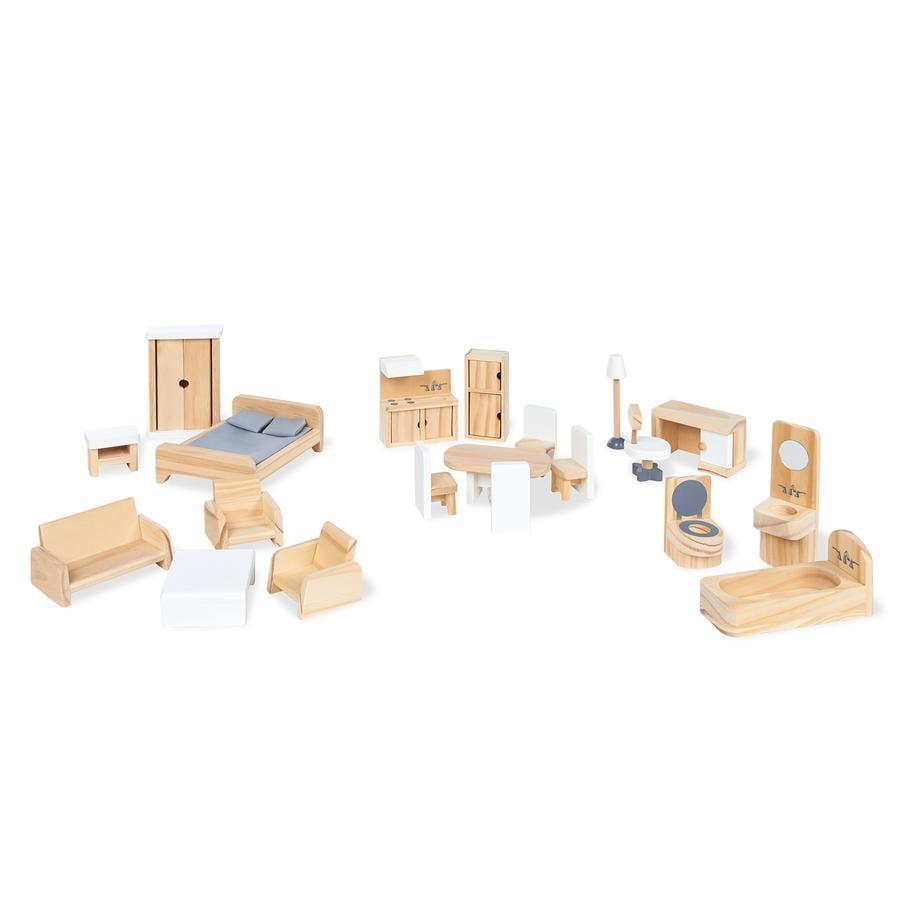 Pinolino Puppenhausmöbel-Set, 20-tlg.