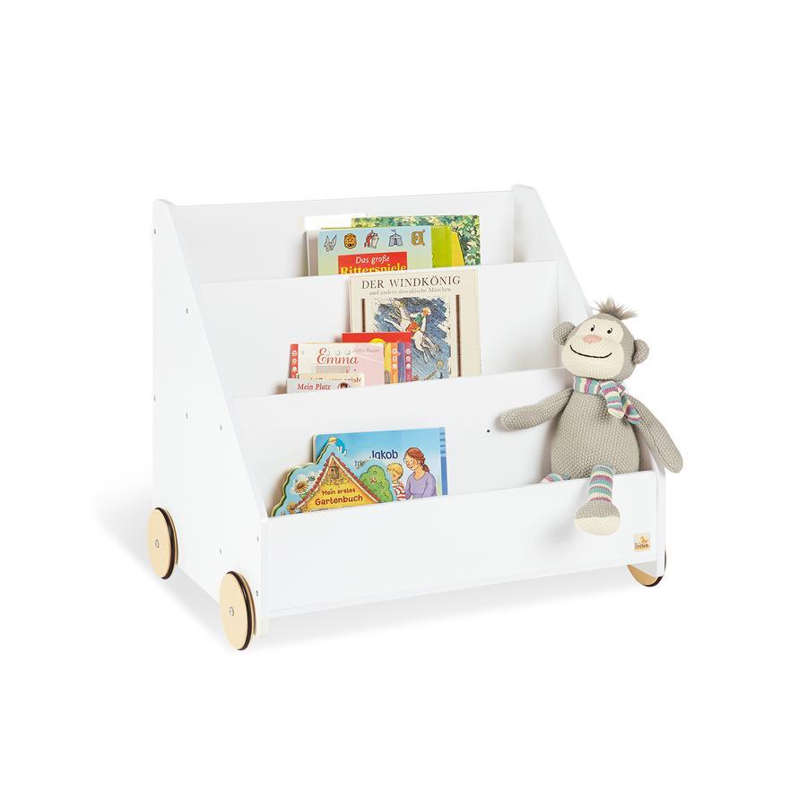 Pinolino Bibliothèque enfant roulettes Lasse bois
