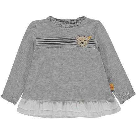 Steiff Girl s Chemise à manches longues, grise