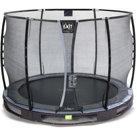 EXIT Inground-Trampolin Elegant Premium ø305cm med Deluxe sikkerhedsnet - sort