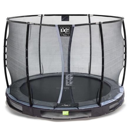 EXIT Inground - trampolina Elegant Premium ø305cm z Deluxe siatką zabezpieczającą - schwa rz