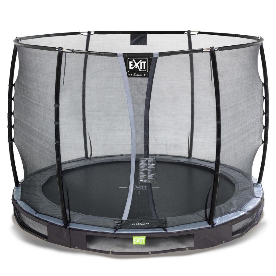EXIT Inground trampolína Elegant Premium ø 305 cm s bezpečnostní sítí Deluxe - černá