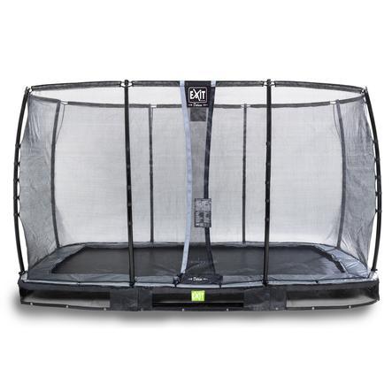 Inground Trampolina EXIT Elegant Premium 214x366 cm z Deluxe siatką zabezpieczającą - schwa rz