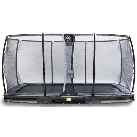 EXIT Inground trampolino Elegant Premium 244x427 cm con rete di sicurezza Deluxe - schwa rz