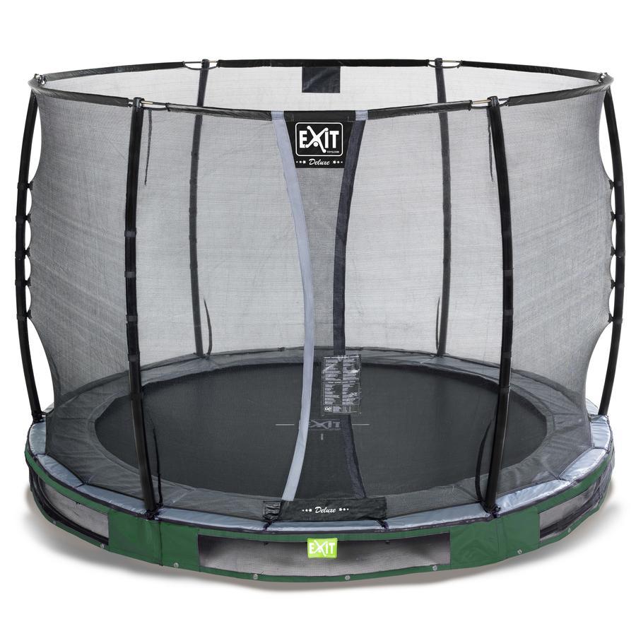EXIT Inground Cama elática Elegant Premium ø305cm con red de seguridad de lujo- verde