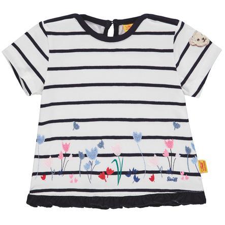 Steiff Girl s T-Shirt , w paski w kolorze morskim
