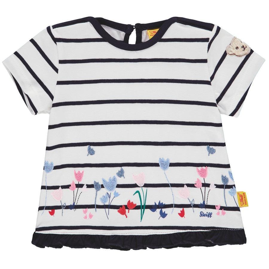 Steiff Girls T-Shirt, marine gestreift