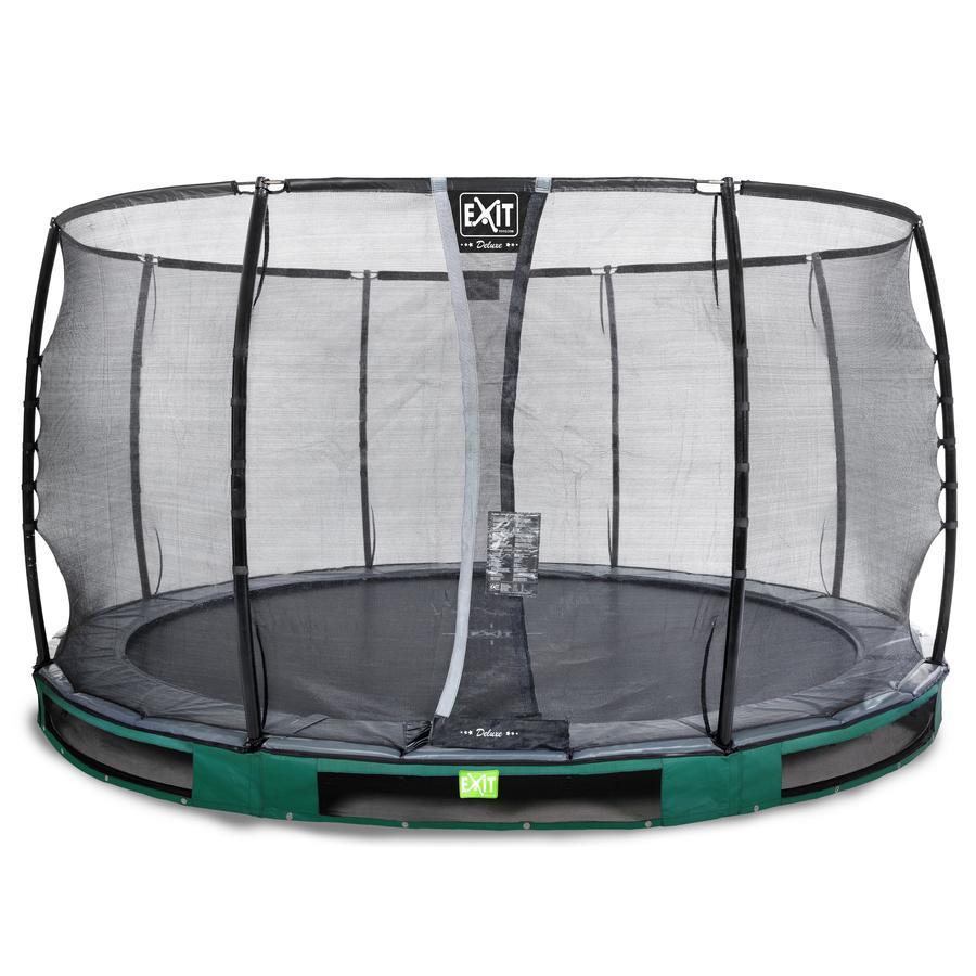 EXIT Elegant Premium inground trampoline ø366cm met Deluxe veiligheidsnet - groen